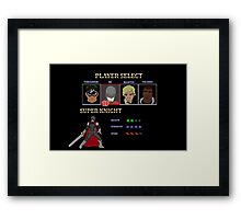 Retro Outlawed Justice Player Select - Super Knight Framed Print