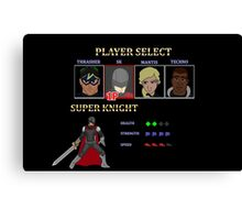 Retro Outlawed Justice Player Select - Super Knight Canvas Print