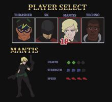 Retro Outlawed Justice Player Select - Mantis by InnerWarrior