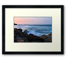 Misty Ocean  Framed Print