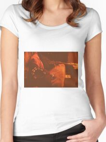 Velvet and faux fur Women's Fitted Scoop T-Shirt