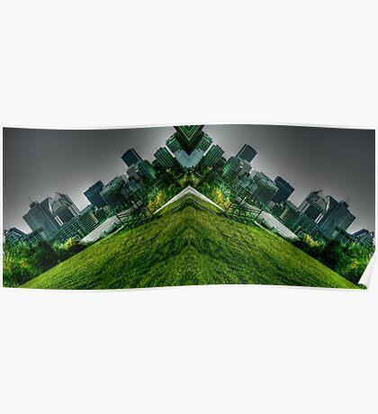 V-shaped World Poster