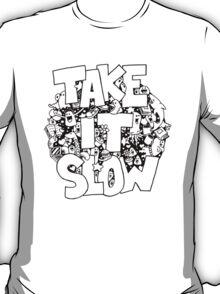Doodle Illustration 'Take It Slow' T-Shirt