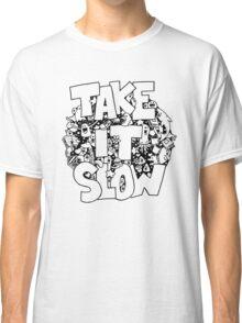 Doodle Illustration 'Take It Slow' Classic T-Shirt
