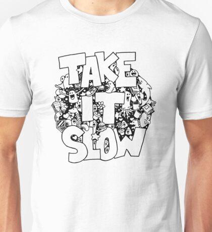 Doodle Illustration 'Take It Slow' Unisex T-Shirt