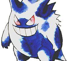 gengar classic ken sugimori pokemon  by pokemon-photo