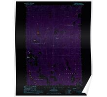 Maine USGS Historical Map Picard Brook 102878 1986 24000 Inversion Poster
