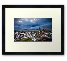 Mt Wellington Plains, Hobart, Tasmania Framed Print
