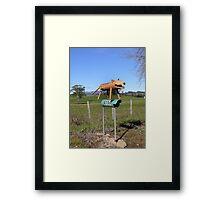 Tiger letterbox Framed Print