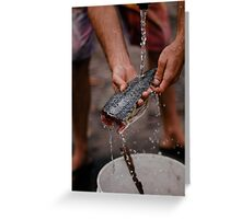 The wash up Greeting Card