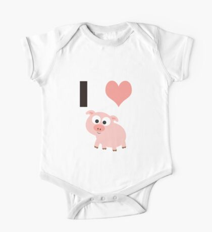 I heart pigs One Piece - Short Sleeve