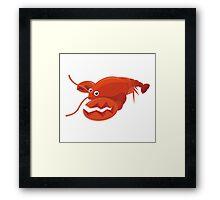 Red Lobster Cartoon Character Framed Print