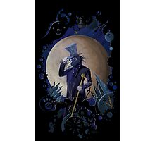 steampunk crow time keeper Photographic Print