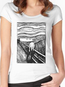 TheScream Women's Fitted Scoop T-Shirt