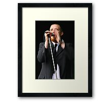 Entertaining the crowd Framed Print
