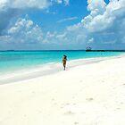 Walking On Paradise Beach by Denis Molodkin