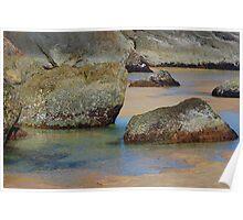 Rock Pools - Redhead Beach NSW Poster
