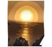 Superb sunset Poster