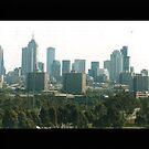 Melbourne city skyline by evapod