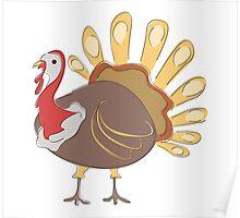 Cartoon Turkey 1 Character Poster