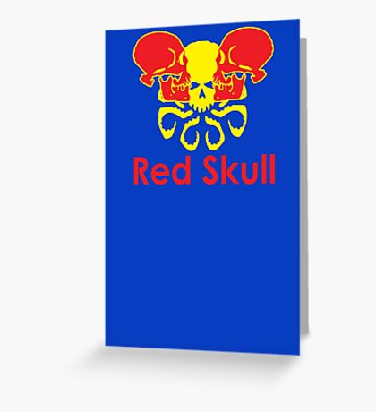 Red Skull energy drink Greeting Card