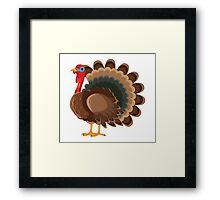 Cartoon Turkey 2 Character Framed Print