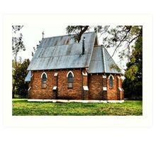 Old Church at Forrest Reefs  Nikon D40  HDR Art Print