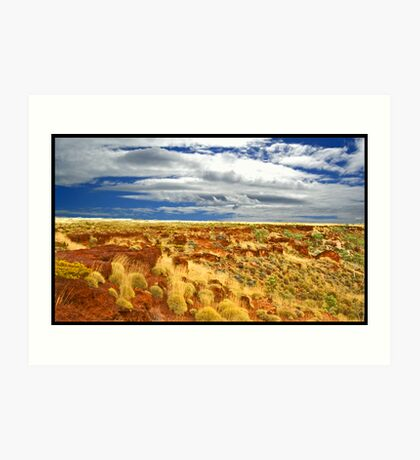 Red Outback Art Print
