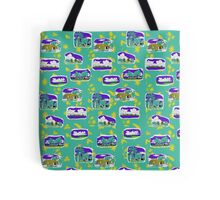 Gove Hawaiian design - teal back ground Tote Bag