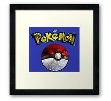 Pokemon Pokeball Galaxy Framed Print