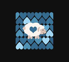 Blue hearts and sheep Unisex T-Shirt