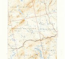 Maine USGS Historical Map Pierce Pond 460745 1927 62500 by wetdryvac