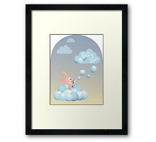 Bubble Cloud Bunny – Baby Love Series Framed Print