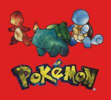 Pokemon Galaxy Kanto Starters Kids Clothes