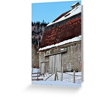 The Brick-red Roof Greeting Card