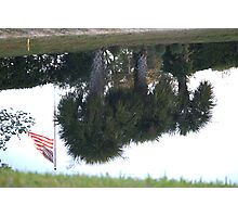 Old Glory.......I guess upside down is an emergency....  Photographic Print