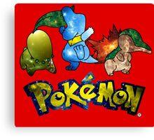 Pokemon Galaxy Johto Starters Canvas Print