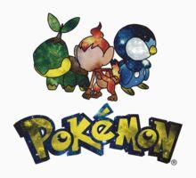 Pokemon Galaxy Sinnoh Starters Kids Clothes