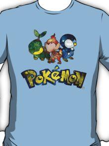 Pokemon Galaxy Sinnoh Starters T-Shirt