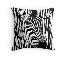Zebra One Throw Pillow