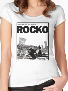 ROCKO Women's Fitted Scoop T-Shirt