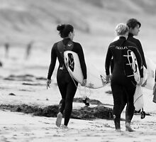 surfer girls by Alan  Barber