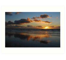 North-Sea sunset clouds Art Print