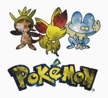 Pokemon Galaxy Kalos Starters Kids Clothes