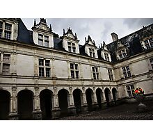 Villandry Castle Courtyard - Loire Valley - France Photographic Print