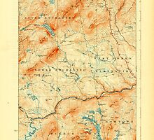 Maine USGS Historical Map Pierce Pond 807621 1927 62500 by wetdryvac