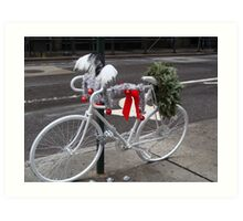 Holiday Ghost Bike Art Print