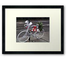 Holiday Ghost Bike Framed Print