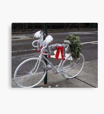 Holiday Ghost Bike Canvas Print
