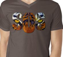 SOS - Tiger Mens V-Neck T-Shirt